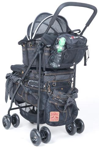 アジリティー2段式装着イメージ※画像のポーチは黒PVCモデル