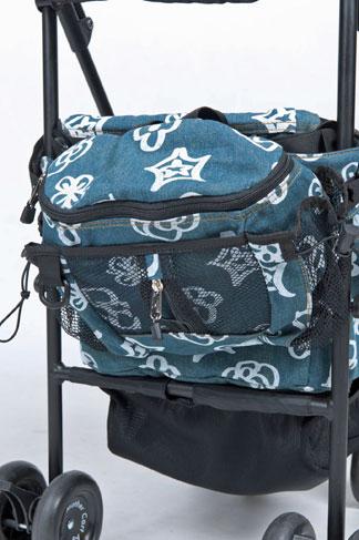 バッグとお揃い柄のお散歩ウエストポーチ(別売り)